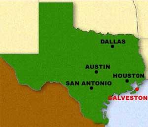 Galveston Island Texas Galveston Map - Map of texas with major cities