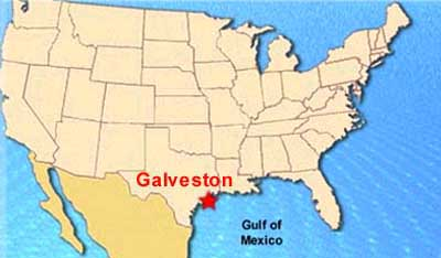 Galveston Map Texas